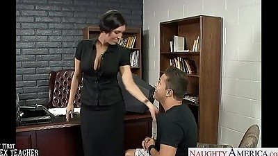 Busty brunette teacher Dylan..