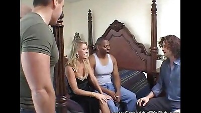 Blonde MILF Swinger Rough Anal..