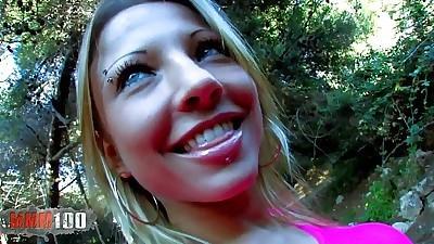 Amazing perfect blonde slut anal..