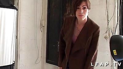 Sublime brunette francaise..
