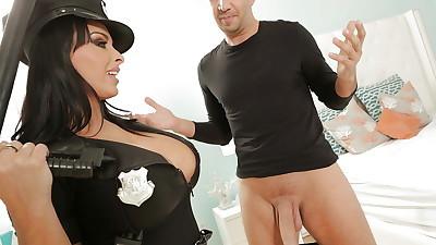 Milf wife catches a hardcore big..