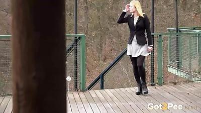 Blonde Chrissy gets short taken..