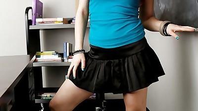 Nasty redhead schoolgirl Jessica..