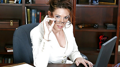 Gorgeous secretary MILF in..