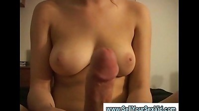 Homemade video of amateur couple..