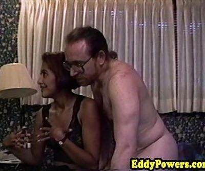 Vintage amateur fucked in first..