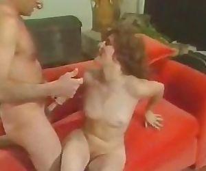 Retro 70s scene on the couch