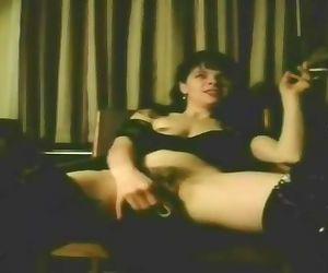 Hot Slut Wife Smokes While..