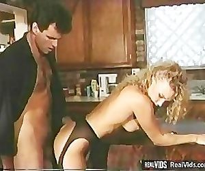 Lewd blonde chick rides cock at..
