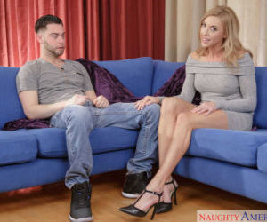 Hot blonde Kate Linn seduces her sons friend for hard..