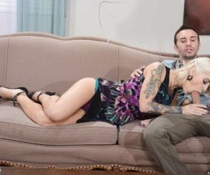 Tattooed blonde sweetheart gets anally crashed and..