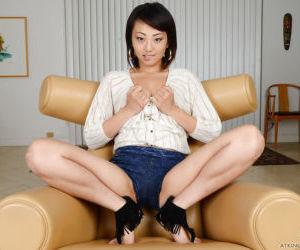 Amateur Asian girl Miko Dai baring small tits and..