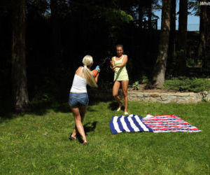 Amateur Euro teen Whitney Conroy and girlfriend have first..