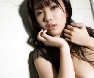 Asian babe in stockings Mai Nadasaka showcasing her..