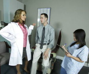 Hot doctor with big boobs Nikki Sexx in hardcore anal..