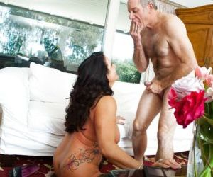 Aged pornstar Leylani Wood taking dick in shaved mature..