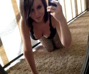 Cute doll Bryci takes selfies of her perfect ripe melons &..