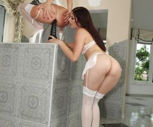 Seductive lesbians Sandra Romain & Mira Sunset have some..