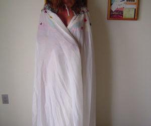 Hot mature Dee Delmar doffs her skimpy carnival costume to..