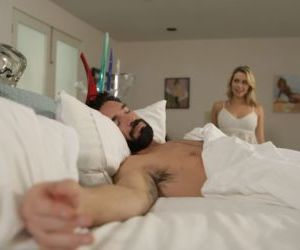 Hot blonde chick Mia Malkova seduces her man friend while..