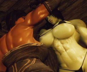 3D Skyrim Muscle Futa by FutanariPrisoner - part 3