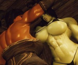 3D Skyrim Muscle Futa by FutanariPrisoner - part 3